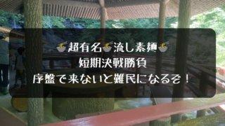 大滝流し素麺